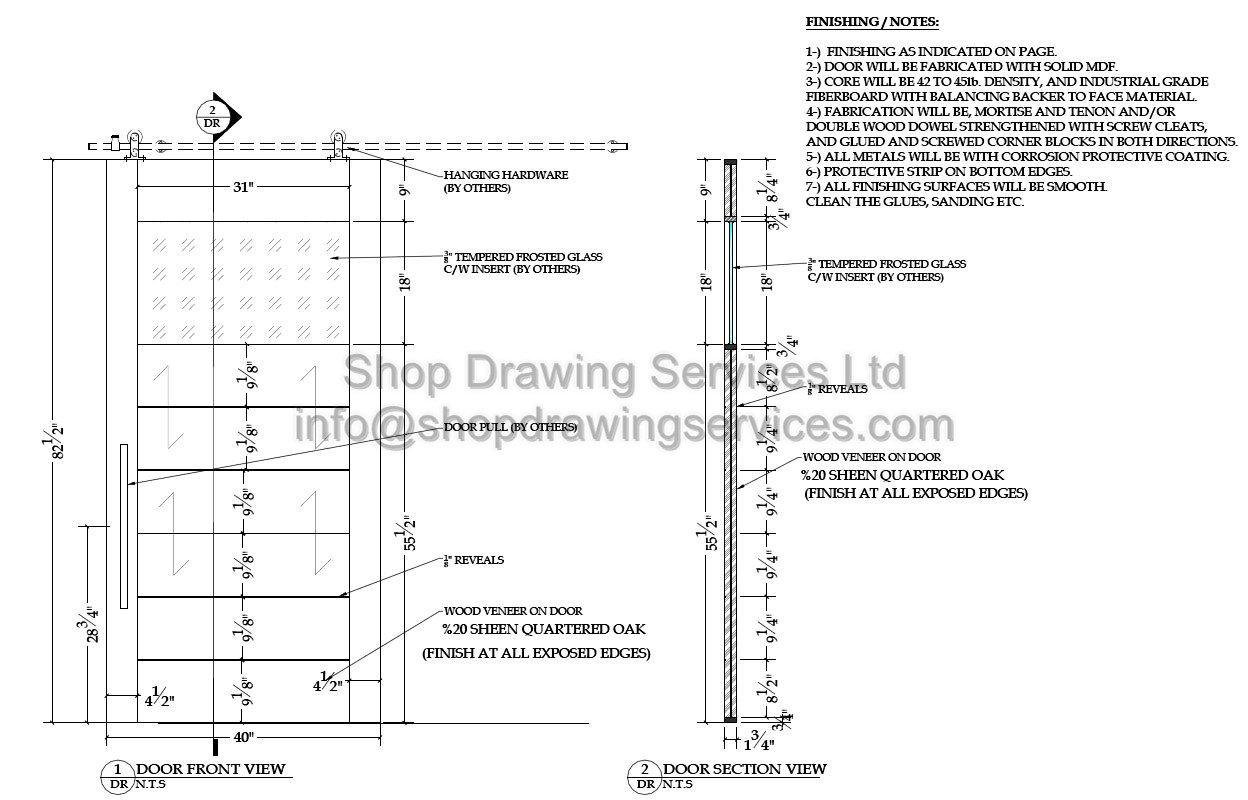 Custom Door Shop Drawings
