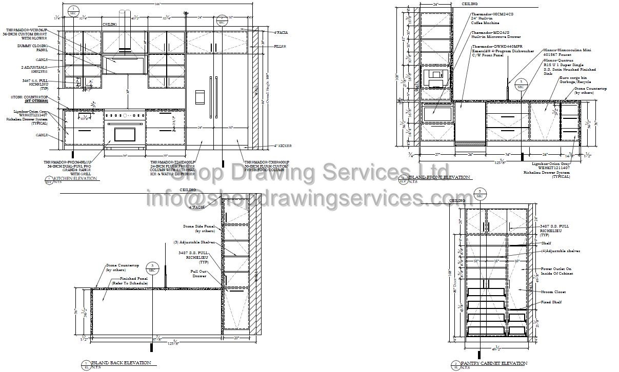 kitchen cabinet shop drawings kitchen shop drawings 5763