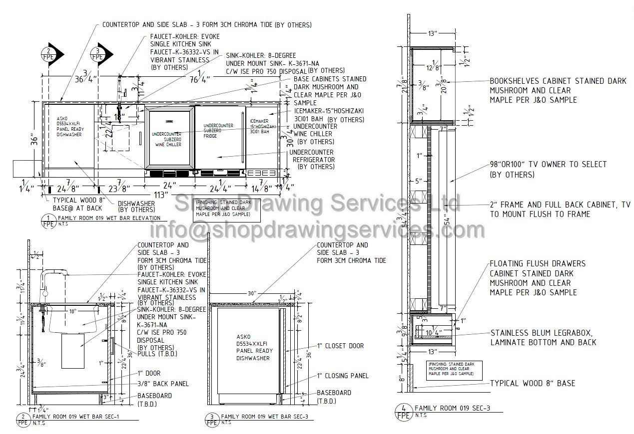 Residence Millwork Shop Drawings