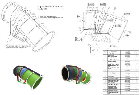 Steel Pipe Shop Drawings