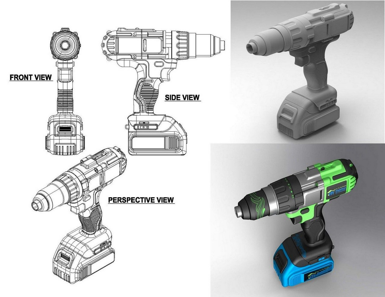 3D Product Illustrations Drawings