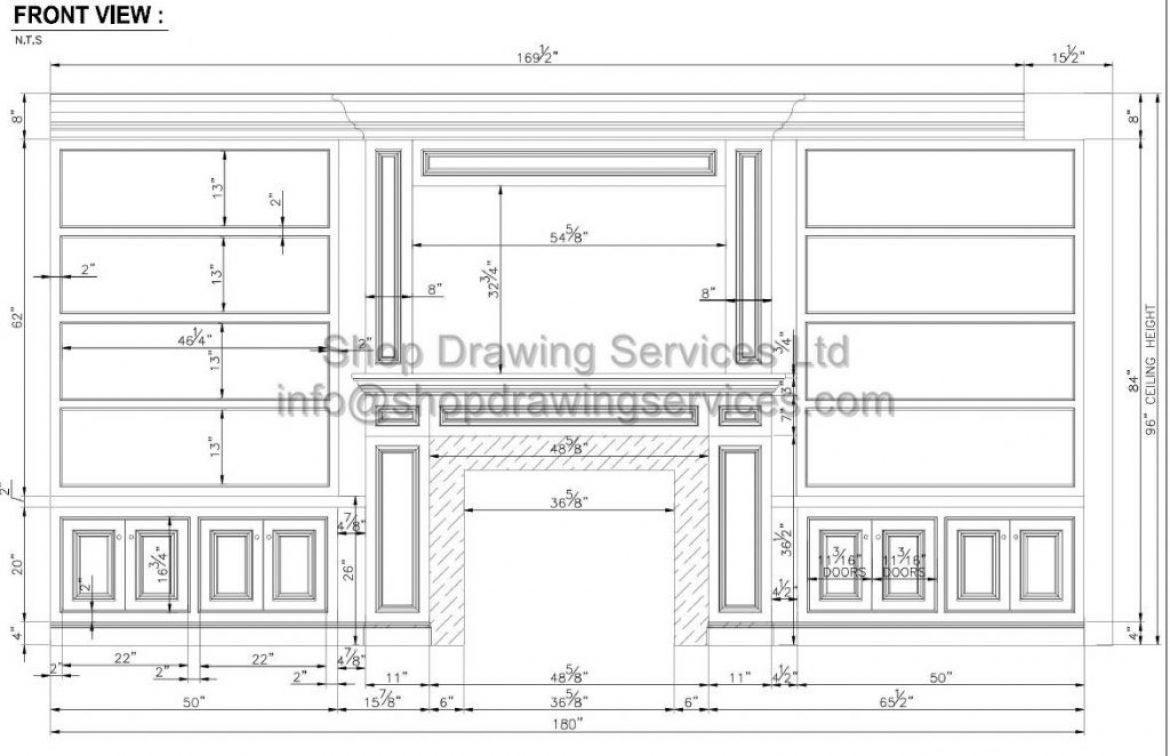 Built in Cabinet Shop Drawings
