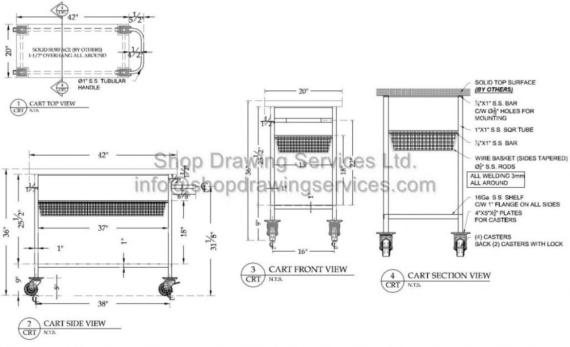 Stainless Steel Product Shop Drawings
