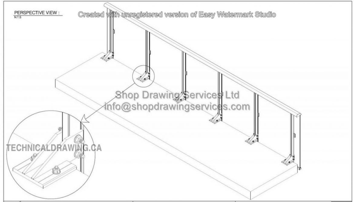 Aluminum Railing Shop Drawings
