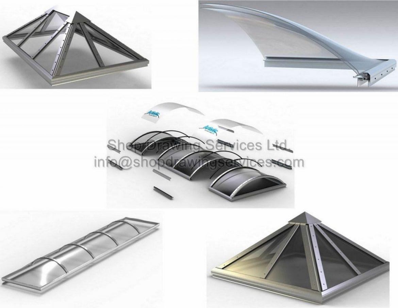 Aluminum Skylight Shop Drawings