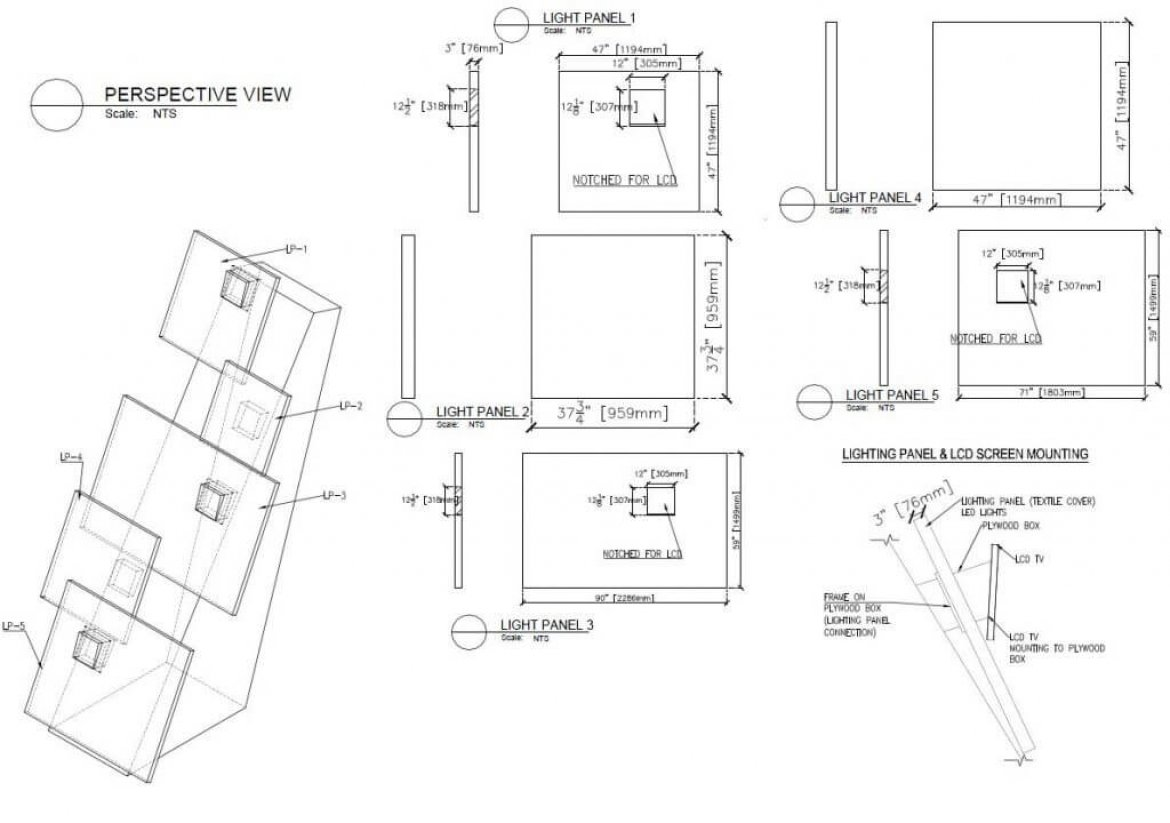 Booth Design CNC Drawings
