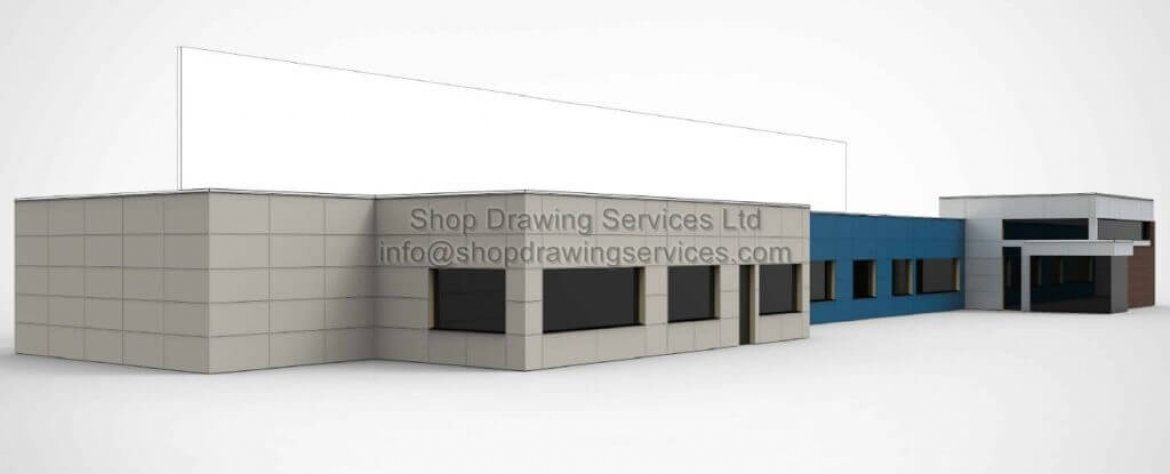 Commercial Metal Wall Cladding Illustration Images