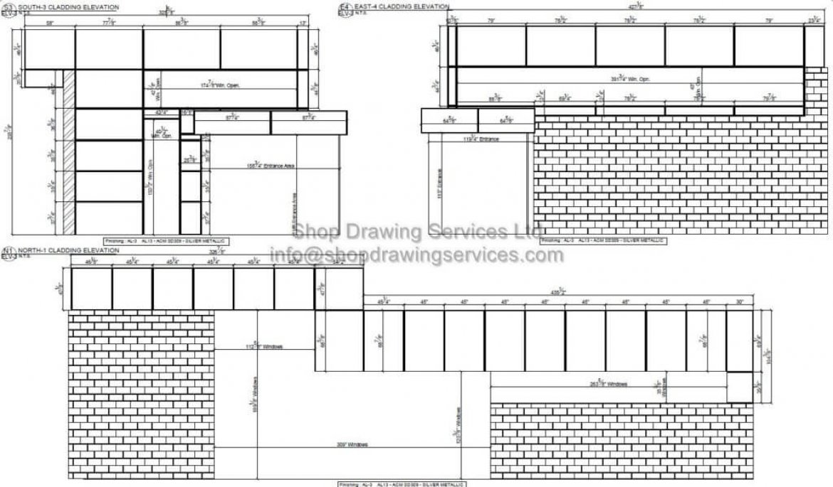 Commercial Metal Wall Cladding Shop Drawings