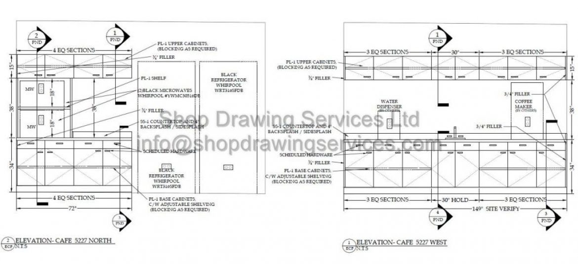 commercial millwork shop drawings1