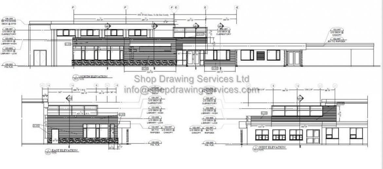 Corrugated Sheet Wall Cladding Shop Drawing