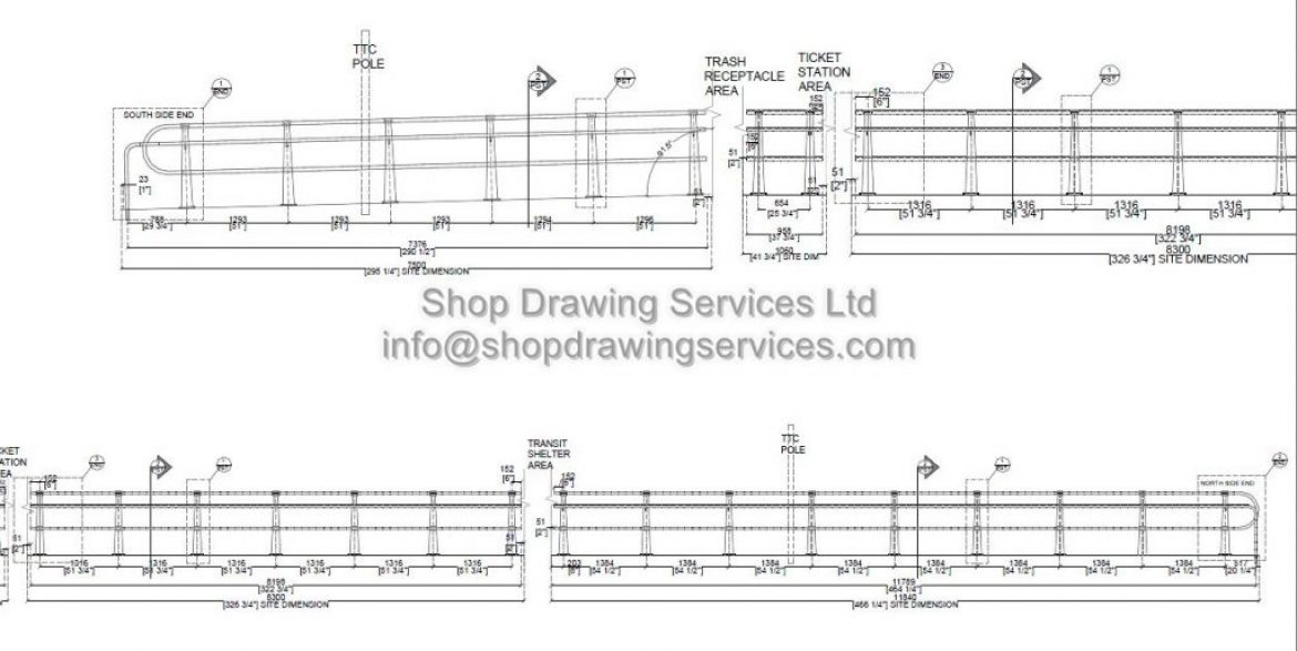Custom CNC Cut Railing Shop Drawings