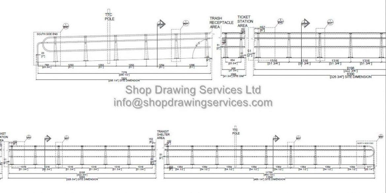 Custom CNC Cut Railing Shop Drawings