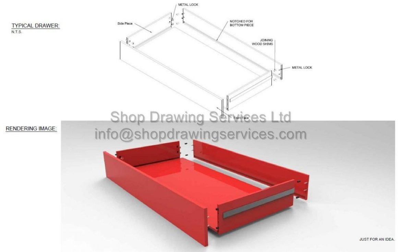 Custom Furniture Shop Drawings