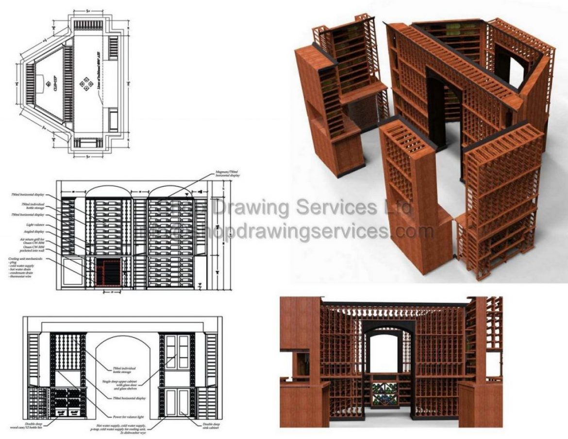 Custom Millwork Shop Drawings