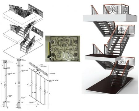 railing shop drawings (2)