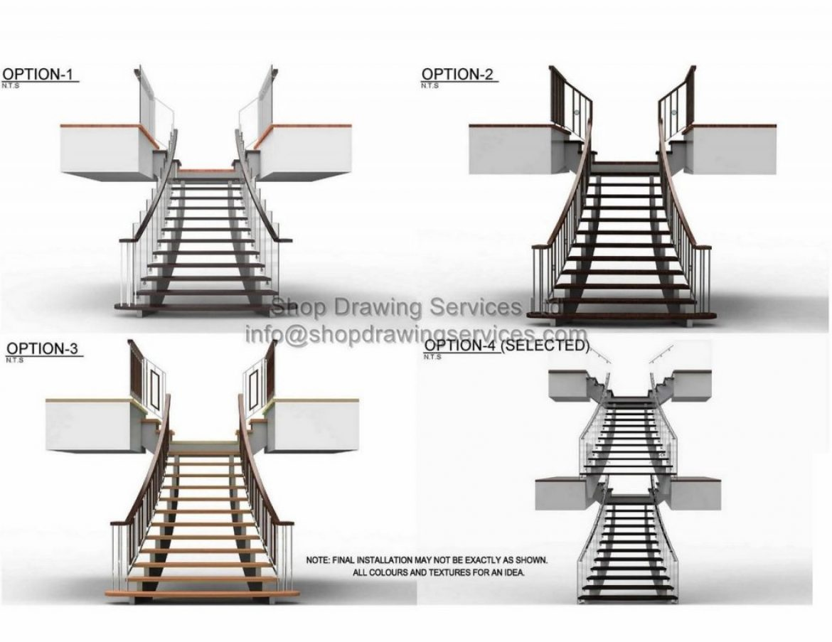 Custom Stair Railing Shop Drawings