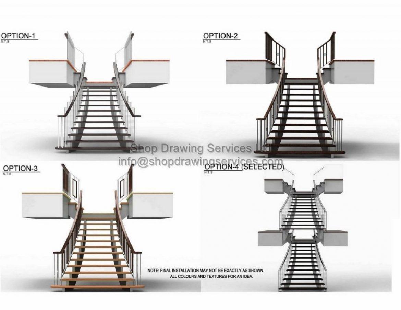 Custom Stair Railing Shop Drawings