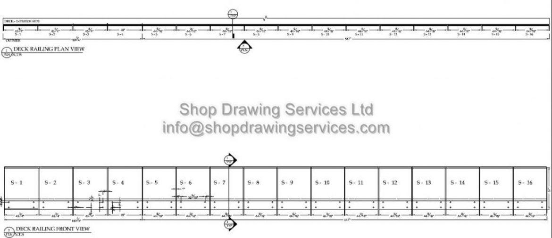 Deck Railing Shop Drawings