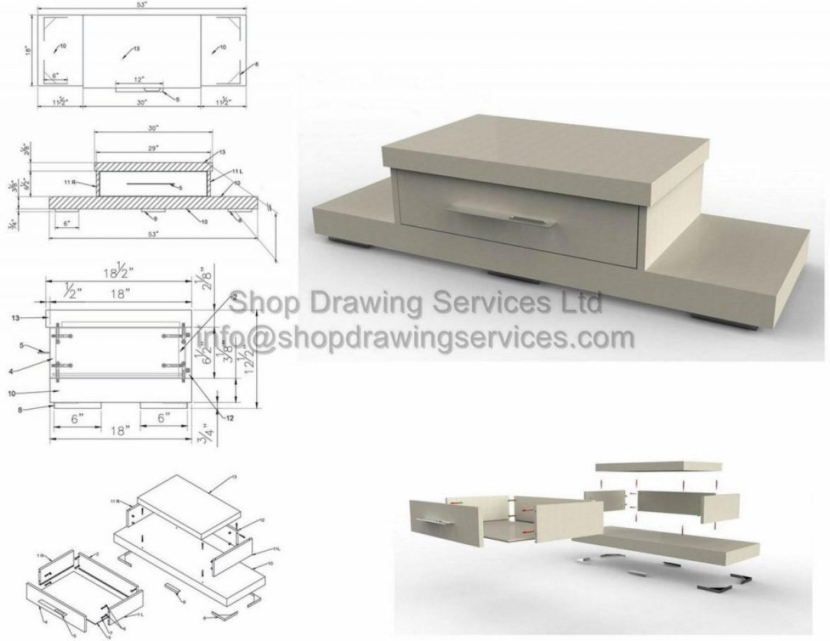 Designer Millwork Shop Drawings