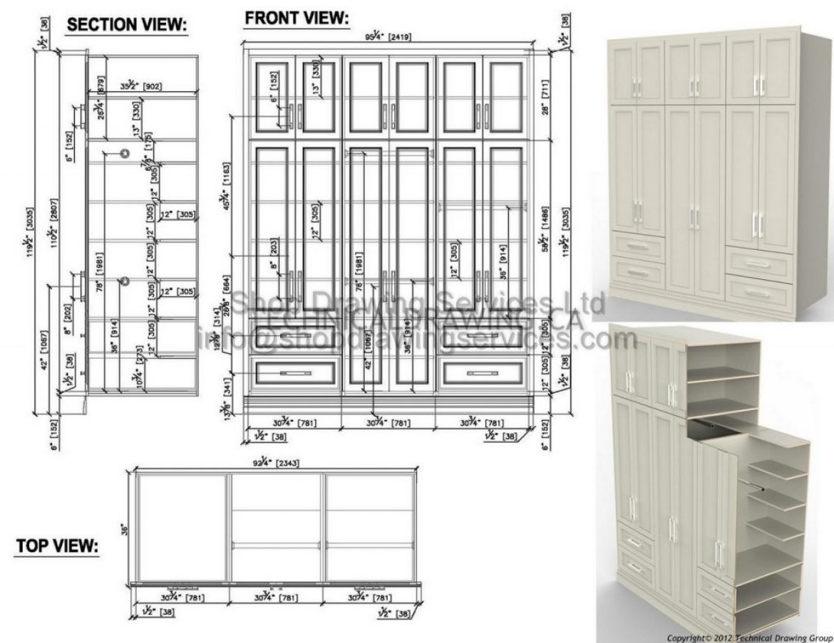 Detailed Millwork Shop Drawings