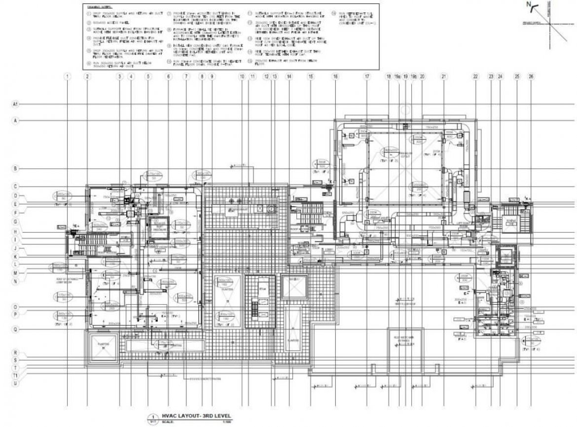 Drafting Archives Shop Drawing Services Ltd For Hvac Ductwork Drawings