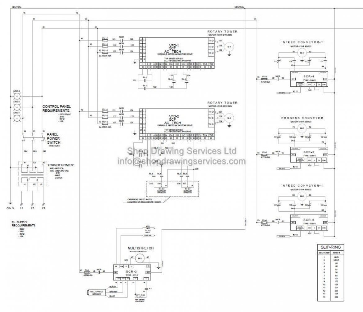 Electrical CAD drafting services