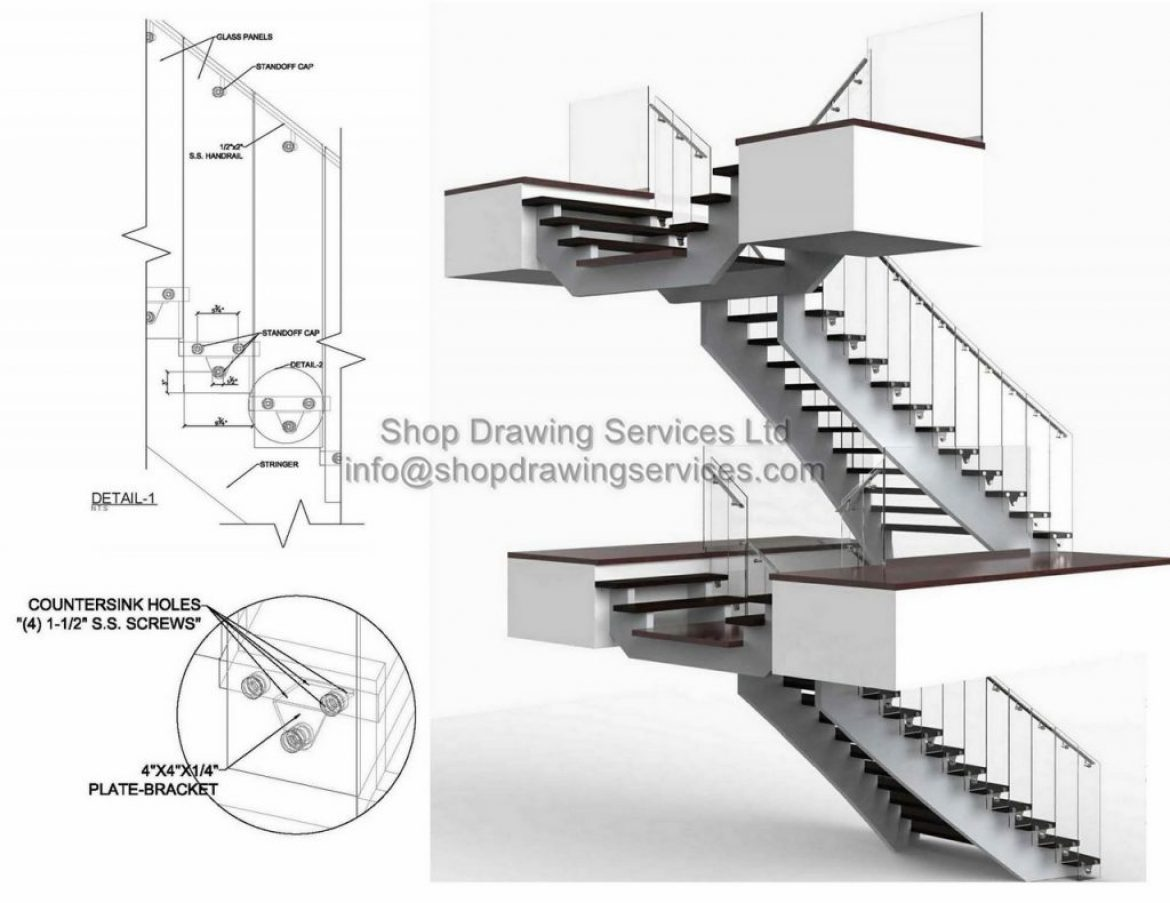 Glass Railing Shop Drawings