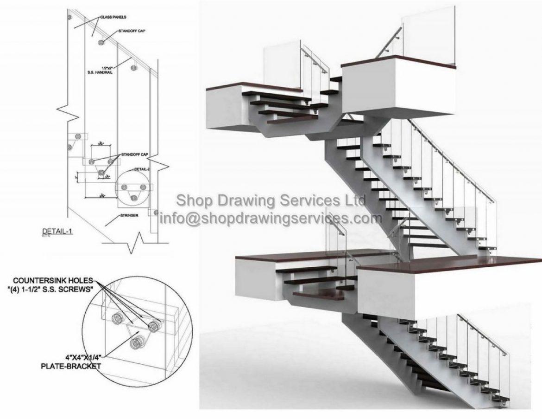 Glass Railing Shop Drawings