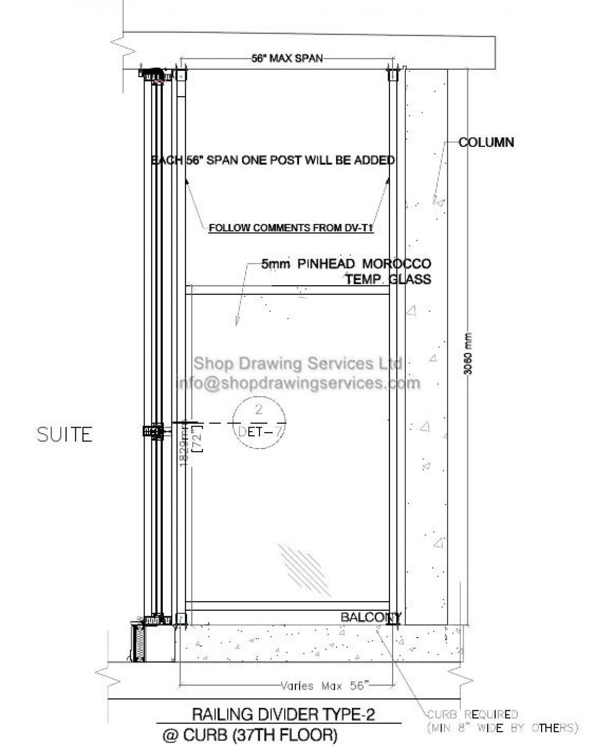 High Rise Aluminum Divider Shop Drawings