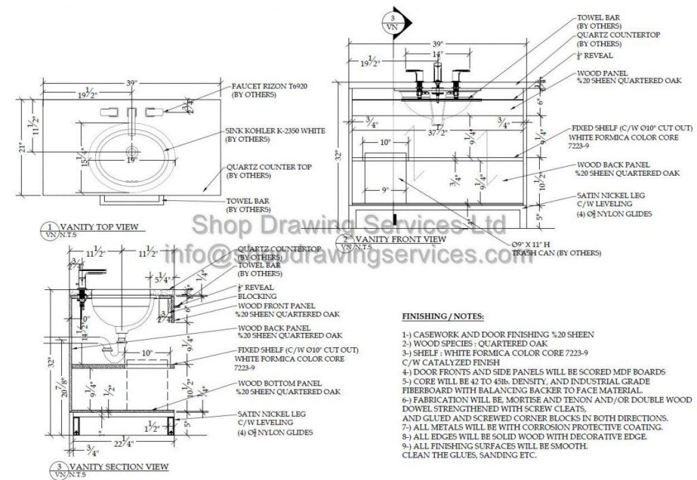 Hospitality Custom Millwork Shop Drawing