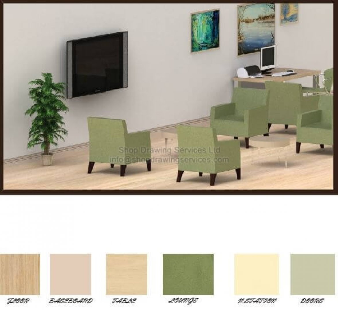 Interior Designing Colorized Finishing Schedules