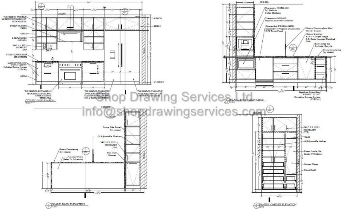 Kitchen Shop Drawings