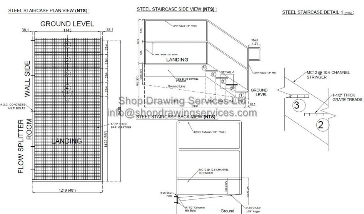 Metal Guard Shop Drawings