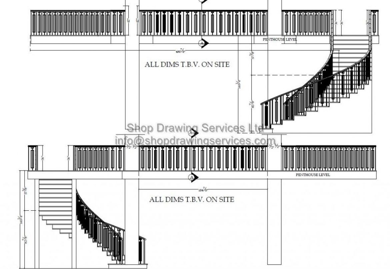 Metal Railing Shop Drawings
