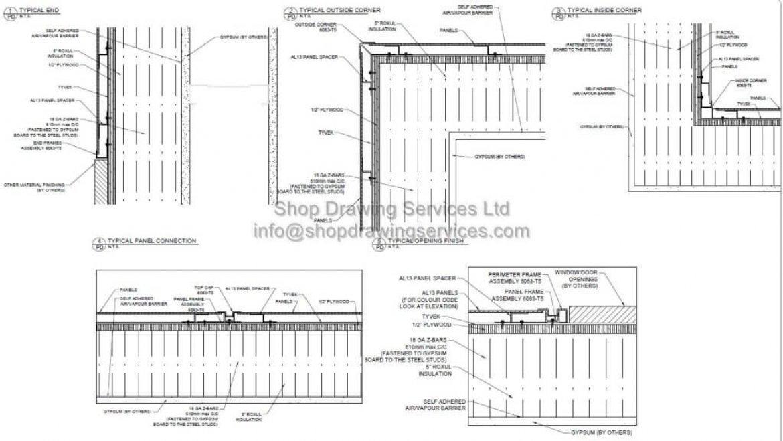 Corrugated Metal Wall Panel Details - Rug Designs