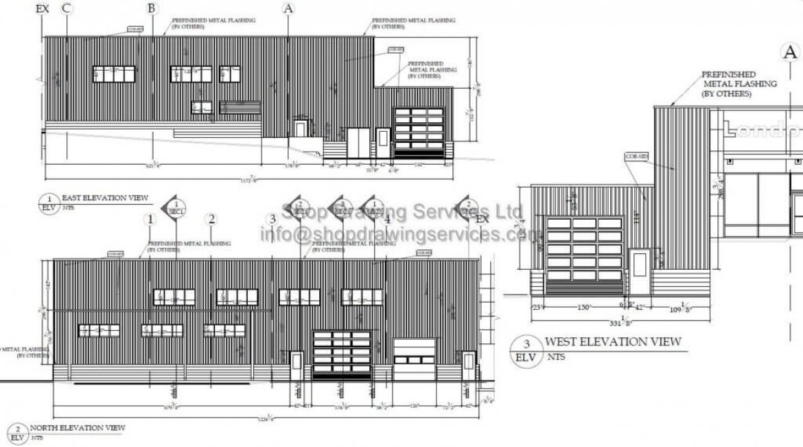 Metal Wall Cladding Shop Drawings