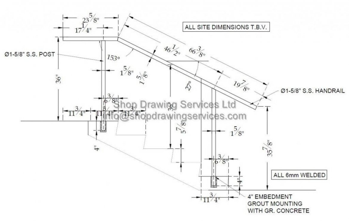 Outside Stainless Steel Guard Shop Drawings