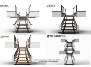 custom railing shop drawings