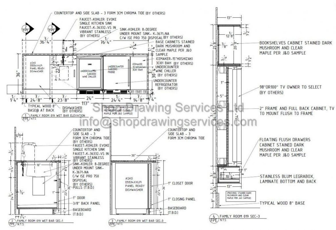 Millwork Archives Shop Drawing Services Ltd
