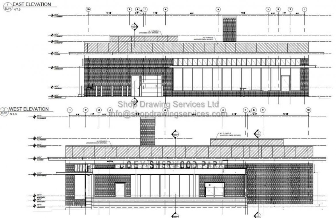 Restaurant Metal Cladding Shop Drawing