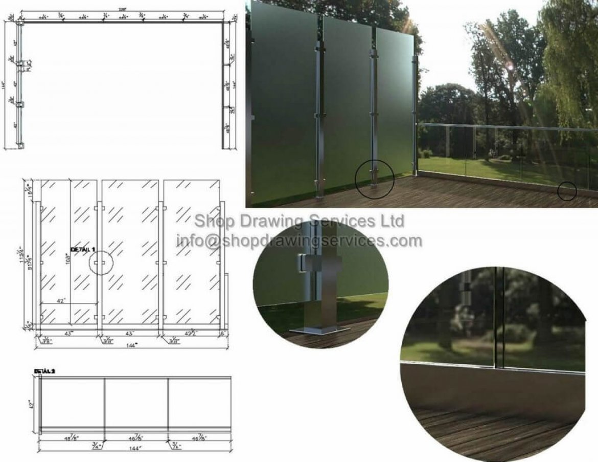 Stainless Steel Divider Shop Drawings