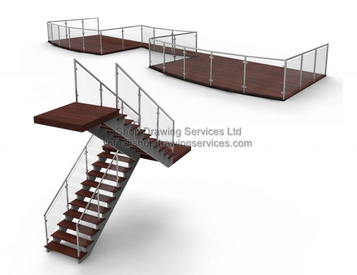 Stainless Steel Glass Railing Shop Drawings