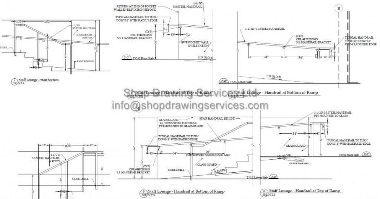 Stainless Steel Pipe Railing Shop Drawings