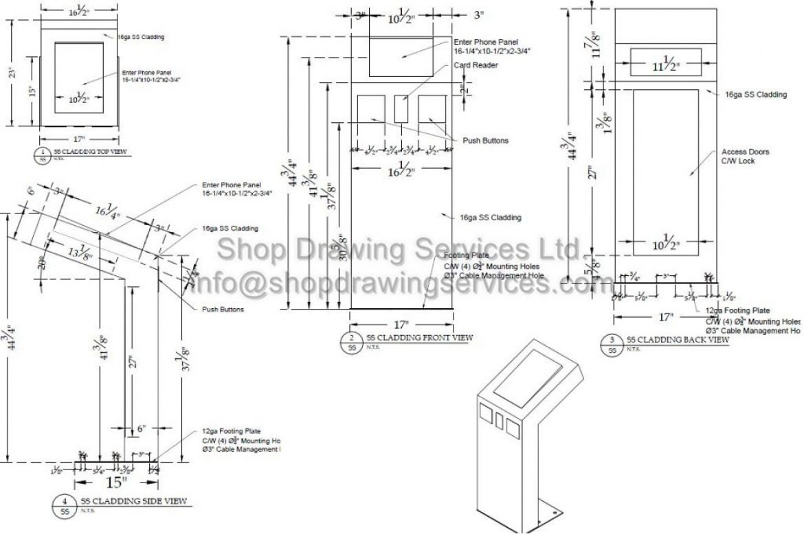 Stainless Steel Shop Drawings