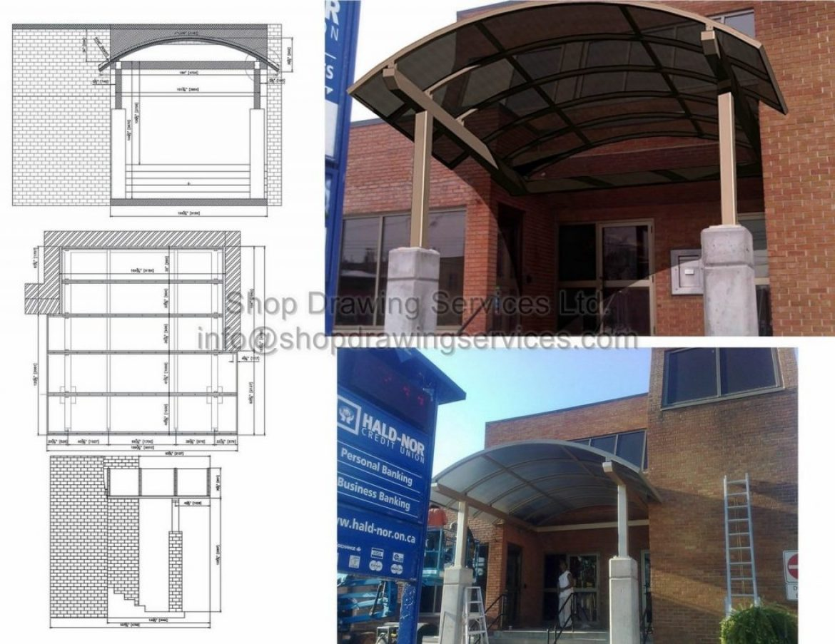 Steel Canopy Shop Drawings