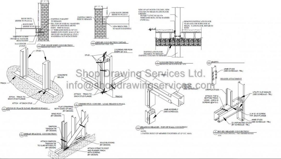 Steel Element Shop Drawing Services