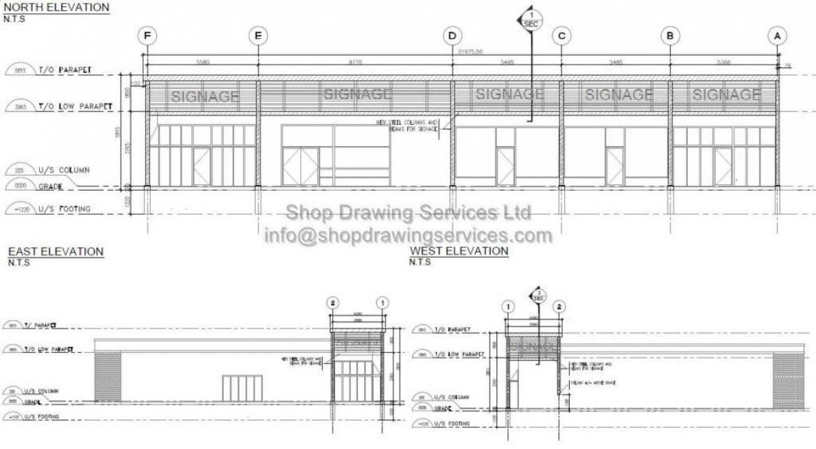 Steel Facade Renovation Shop Drawings