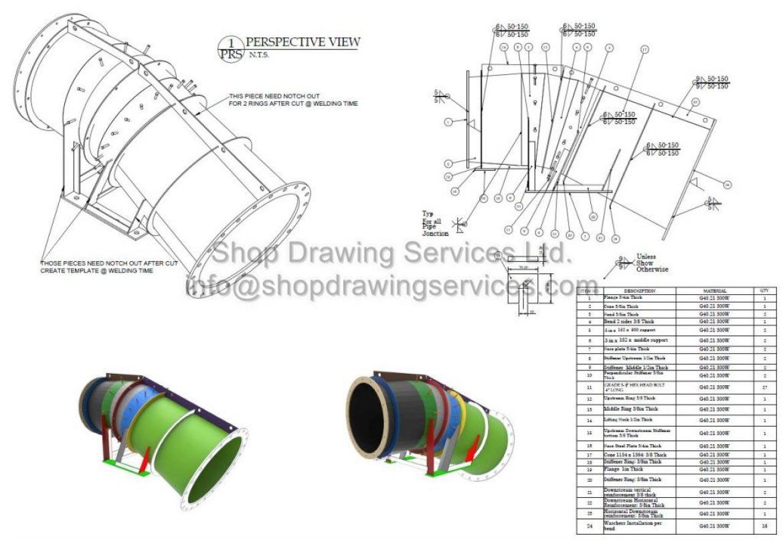 Steel Pipe Shop Drawings