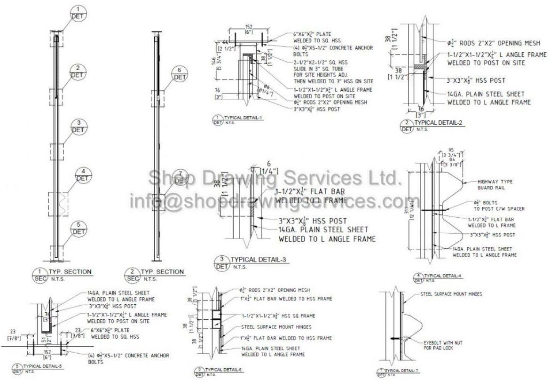 Steel Post Shop Drawings