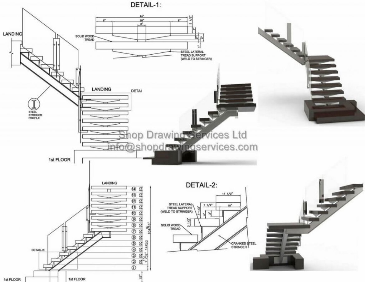 Steel Stair Shop Drawings